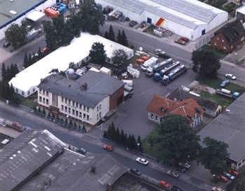 Luftbild des Stammhaus der Brauerei Carl Betz GmbH